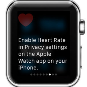 apple watch heart rate sensors disabled