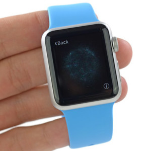 apple watch held on fingers
