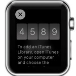apple watch passcode for iTunes library pairing