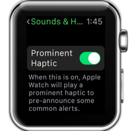 apple watch prominent haptic feature
