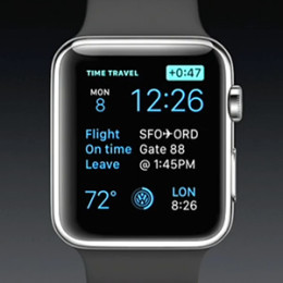 apple watch time travel view