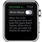 apple watch wrist raise disabled