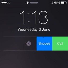 call option on iphone lock screen reminder notification