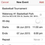 create new ios calendar event