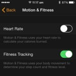 disabling watch heart rate tracking from iphone