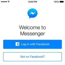 facebook messenger register without facebook account