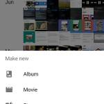 google photos home screen options