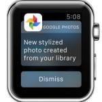 google photos notification on apple watch