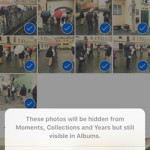 hide multiple iphone photos