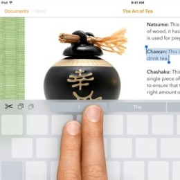 ios 9 keyboard cursor trick
