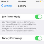 iphone low power mode feature