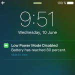 iphone low power mode push notification