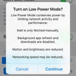 iphone low power mode restrictions