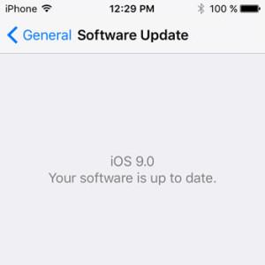 iPhone running iOS 9!