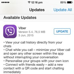 viber for ios version 5.4