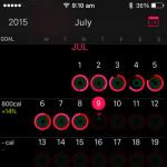 activity app goal change display
