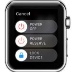 apple watch power off screen