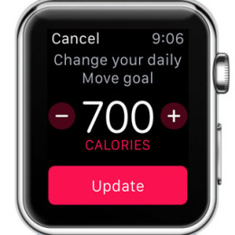 change apple watch daily move goal