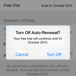 disabling apple music auto-renewal