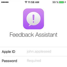 ios 9 feedback assistant app