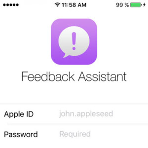 ios 9 feedback assistant app