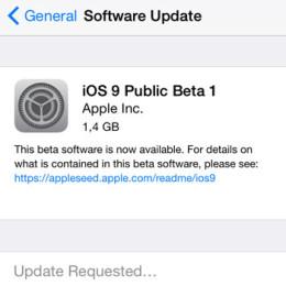 ios 9 public beta 1 iphone software update