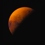Orange Planet Wallpaper