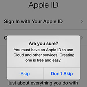 apple id setup bypass screen