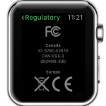 apple watch regulatory info