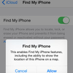 find my iphone icloud turn on setting