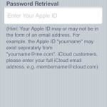 iforgot enter apple id screen