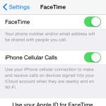 iPhone FaceTime settings