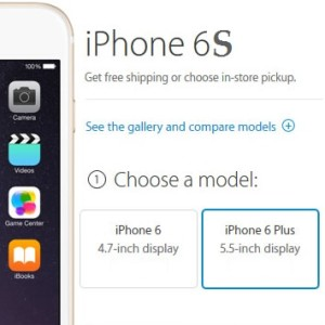 iphone 6s online pre-order screen