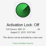 iphone activation lock status off