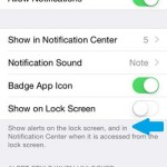 iphone messages notification show on lock screen setting