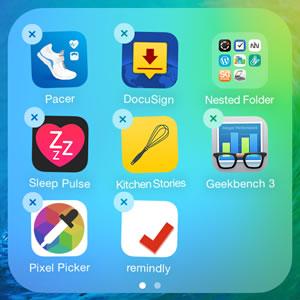 nested iphone home screen app folder
