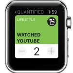 quantified apple watch event input