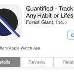 quantified habit tracker app store view