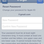 set up new apple id password
