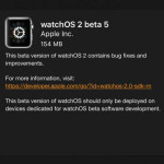 watchos 2 beta 5 software update