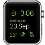 green modular watch face