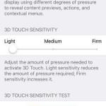 ios 9 3d touch settings menu