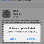 ios 9 software update failed prompt
