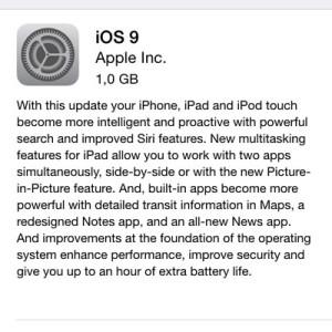 ios 9 update description