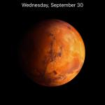 ios 9.1 orange planet wallpaper