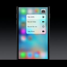 iphone 6s camera 3d touch menu
