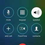 iphone active call options screen