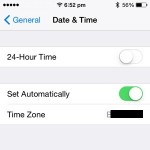 iphone automatic time configuration setting