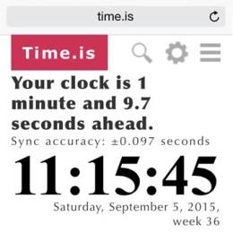 iphone time keeping error