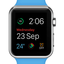 multicolor modular apple watch face